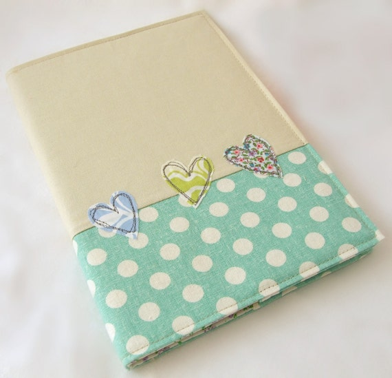 A5 Embroidered  fabric notebook cover  - with A5 notebook