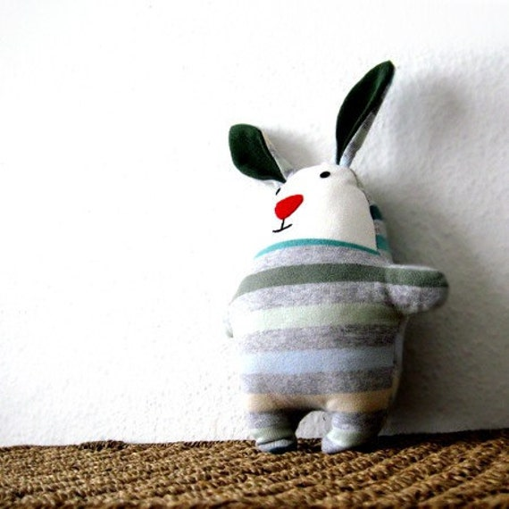 Rag doll rabbit bunny PDF sewing pattern tutorial Easter soft softie plush plushie