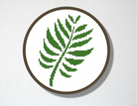 Counted cross stitch pattern pdf instant download fern