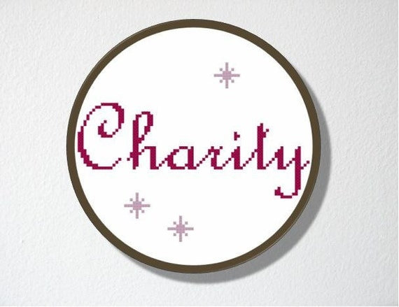 Counted Cross stitch Pattern PDF. Instant download. Charity. Includes easy beginner instructions.