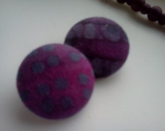 Purple Batik Earrings
