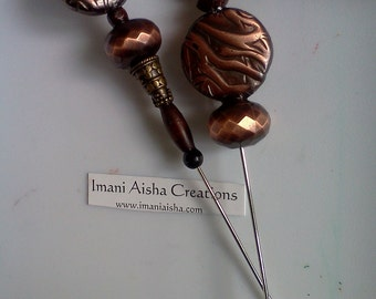 Bronze Scarf Pin