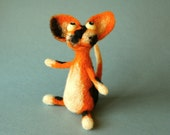 Reserved for Celine C. / Remi the Cat / needle felted art toy