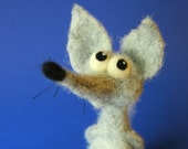 Marcello the Wolf / needle felted art toy
