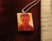 cover model - torchwood upcycled comic pendant