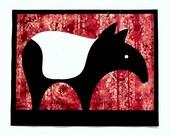 Textured Tapir Poster (RED)