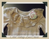 Chloé Vintage Lace Onesie Baby Bodysuit, Vintage Inspired Onesie  Baby Boutique Clothing Girls READY to SHIP