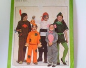 Sale- 50% off- Everything Must Go! FREE SHIPPING Vintage Simplicity 8221 Halloween Coustumes for Boys and Girls