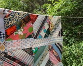 Reserved for Emily Vintage HandStiched Colorful Quilt Top