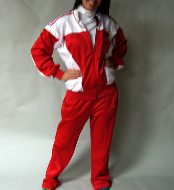 Track Suit / Jogging Suit /Vintage 80s Adidas / Medium