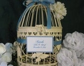 Ivory Bird Cage Wedding Card Holder Vintage Style / Wedding Card Holder Birdcage / Wedding Birdcage   Decorative Bird Cage Cyber Monday Etsy