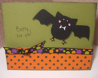 Batty For You (Halloween Card)