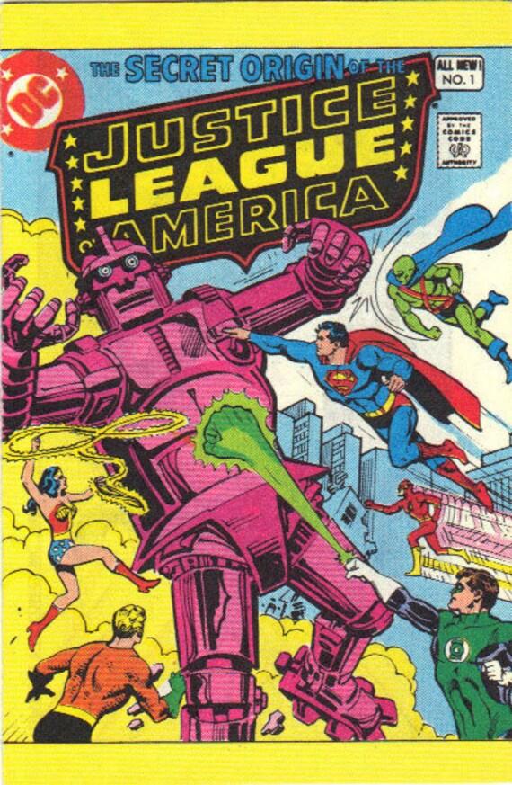 "1980 DC Comics ""The Secret Origins of Justice League of America"" Comic Book - No. 1"