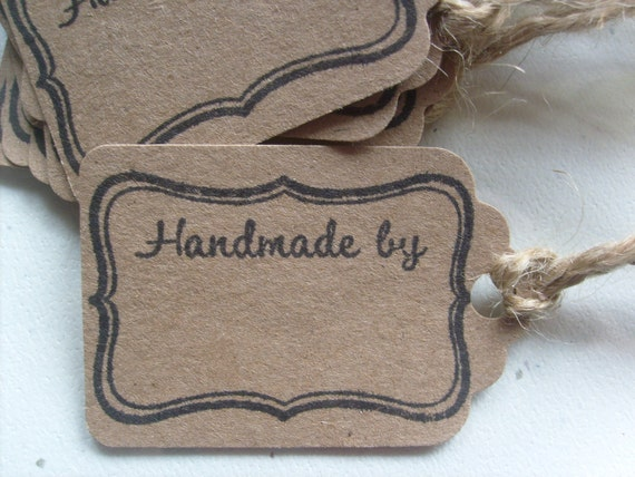 Handmade Wedding Gift Tags : HANDMADE BY Gift tags, Kraft paper Gift tags, Business Labels, wedding ...