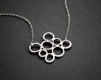 Sea Bubble Necklace in Silver
