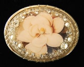 75% off Sale!  Magestic White Magnolia Flower Women's Belt Buckle