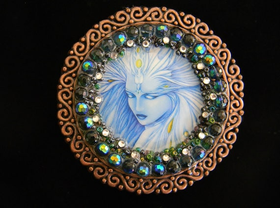 SALE  75% OFF Womens Belt Buckle Out of this World Blue Vixen