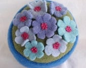 Pincushion Floral Upcycled Felted Wool on Sale