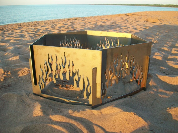 Decorative Portable Metal Fire Pit - Flame