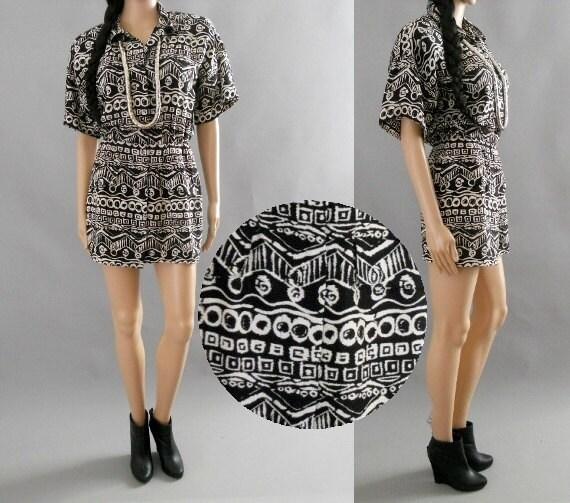 aztec tribal mini dress s.m. small. medium