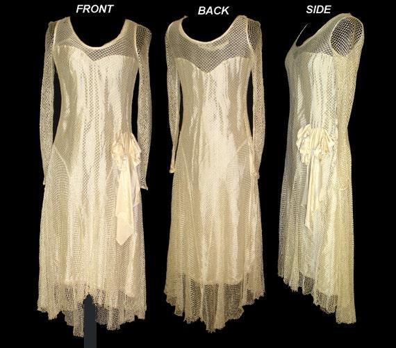 Vintage Late 1920s 20s 1930s 30s Art Deco Art Nouveau Dress