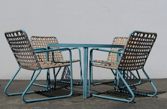 Iconic mid century modern patio set by brown jordan for Iconic mid century modern furniture