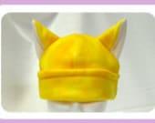 yellow Tie dye Cat ears Anime Hat