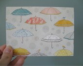 40% off SALE Note Card Set of 6 Baby Shower Umbrellas Ready to Ship