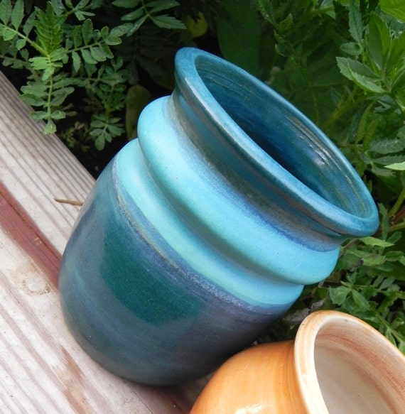 Teal & Turquoise Jar