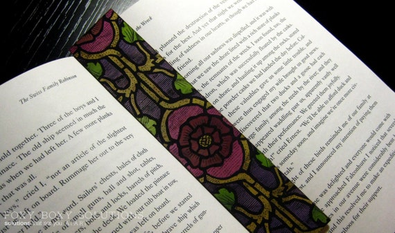 Bookmark: Stained Glass Rose