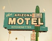Retro American Road Sign - Arizona Motel Vintage 1960 Route 66 Road Sign