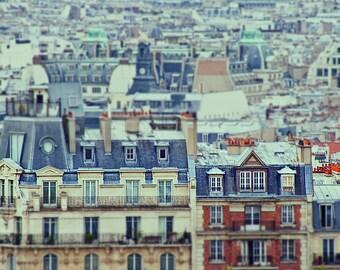Paris Rooftops Photograph -Breathless - Fine Art Photograph of the rooftops of Paris, France - 8x10