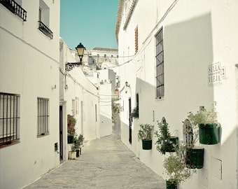 SALE: 25% Off Spain Photography - Andalucian White - Fine Art Photography Print of a white village in Spain