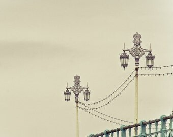"Minimalist photography, travel print, Brighton photography, beach art - ""Promenade Song"""