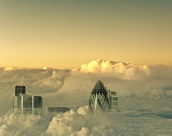 London - Head in the Clouds, fine art photography,8x10
