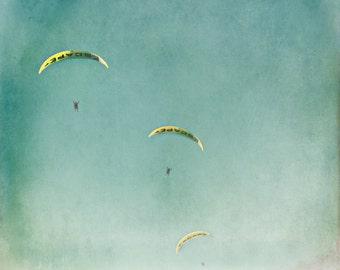 fine art photography print by Keri Bevan - The Escape - blue,aqua,yellow