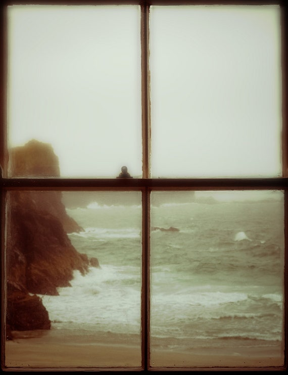 Beach Photography, large photography, window, beach art print - The Mermaid of Zennor - sea,ocean,beach,waves