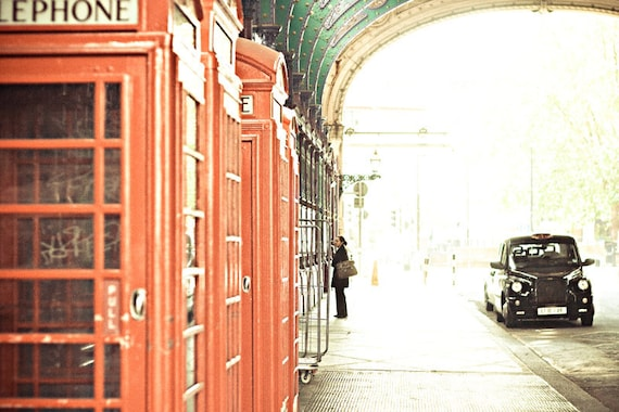 London Photograph - The Morning After - red,black,green, fine art photography