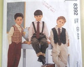 McCall's 8392 Boy's Lined Vest, Shirt, Pants and Tie  Size 2,3,4