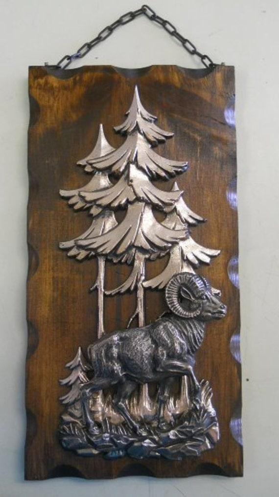 Wall Hanging Plaque - Big Horn Sheep Ram