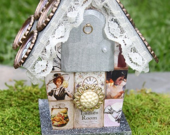 Maiden Lady Fairy Enchanted Mixed Media Fairy House