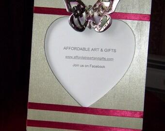 Green & Burgundy Heart Frame Pretty Reminder Board