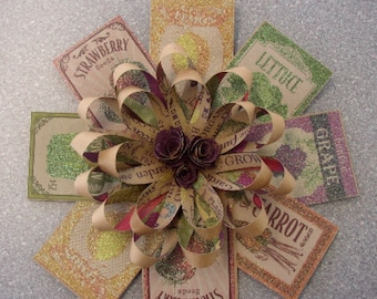 1950's Paper Loop Hanging Garden Seed Wreath
