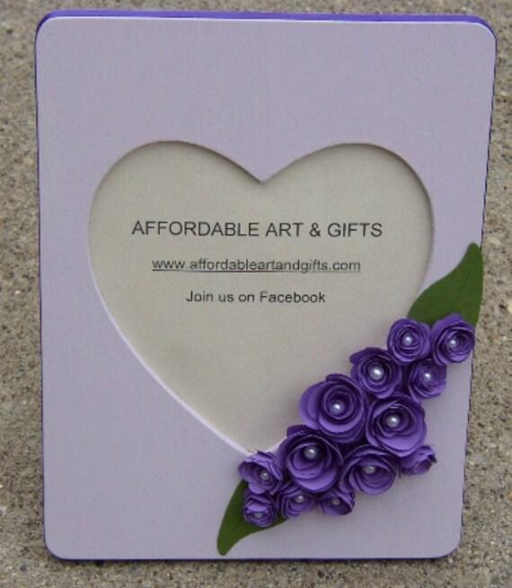 Purple Lavender Heart Frame OR Pretty Reminder Board