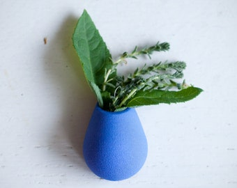 Wearable Planter Lapel Pin, in Blue,