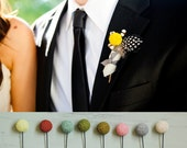 Horton Mens Wedding Boutonniere 5pack - Any Color