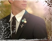 Billy Any Color Ball Trio Wedding Boutonniere