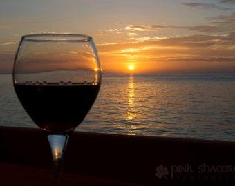 Wine at Sunset - Fine Art Print