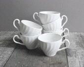 Vintage White Myott Meakin Teacups