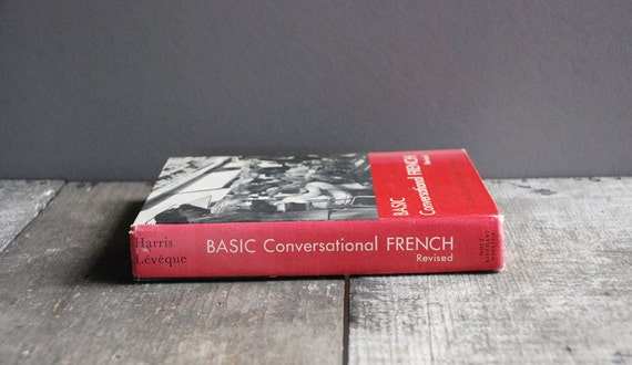 Vintage 1960 Conversational French Book